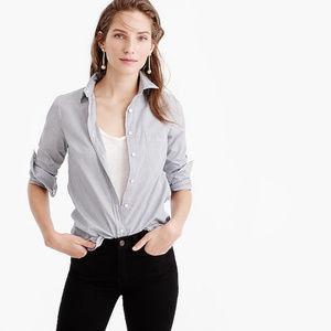 J. Crew petite everyday shirt in striped poplin
